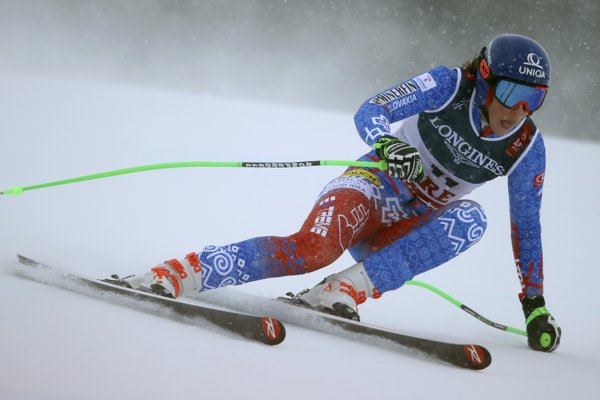 Petra Vlhová na MS v alpskom lyžovaní 2019.