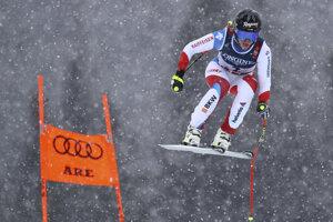 Švajčiarka Lara Gutová-Behramiová počas 1. kola.