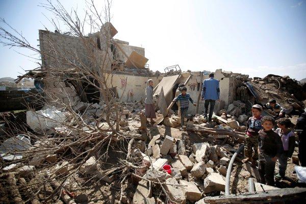 Saudská Arábia často v Jemene zasiahne civilné príbytky.