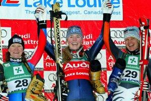 Jej prvé víťazstvo v kanadskom Lake Louise v roku 2004 v rámci Svetového pohára.