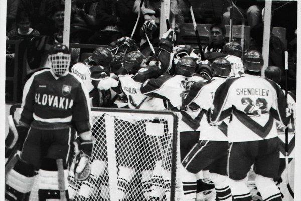 Ruská zborná zdolala vo štvrťfinále Slovensko gólom Vinogradova.