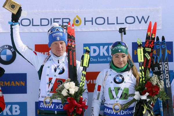 Lukas Hofer a Dorothea Wiererová.