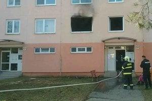 Požiar bytu.