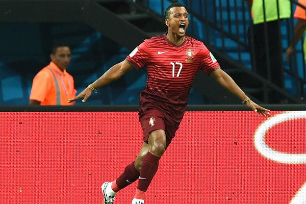 Portugalský futbalista Nani.