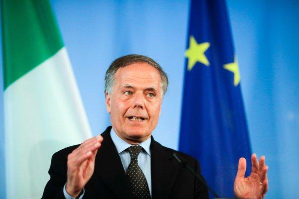 Taliansky minister zahraničných vecí Moavero Milanesi.