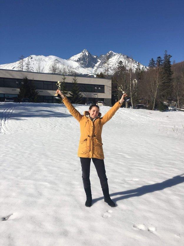 Nina s dvoma trofejami vo Vysokých Tatrách