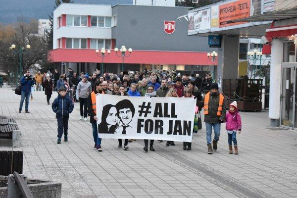 Protest v Považskej Bystrici.