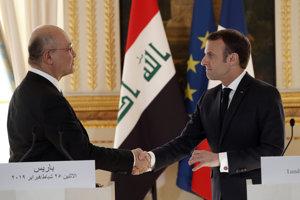 Zľavairacký prezident Barham Sálih a francúzsky prezident Emmanuel Macron