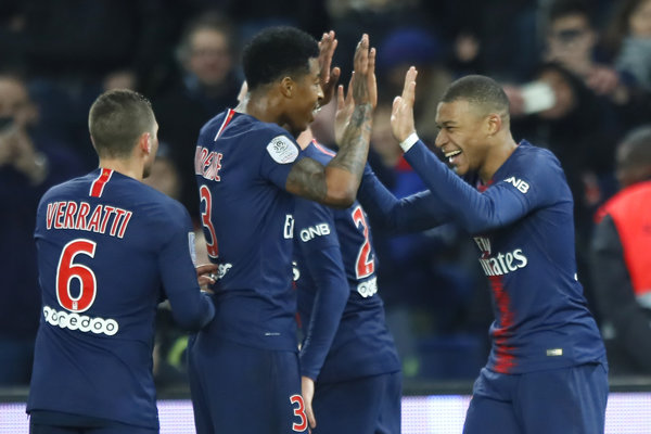 Futbalisti Paríža Saint Germain - ilustračná fotografia.