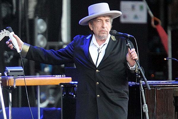 Spevák Bob Dylan.