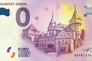 Nová nulová bankovka s motívom Bojnického zámku.
