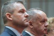 Predseda vlády SR Peter Pellegrini a prezident SR Andrej Kiska.