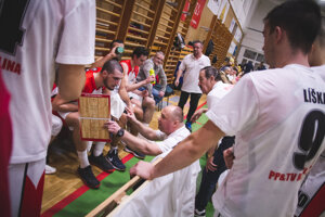 Basketbalisti PP & TV Raj Žilina. Ilustračné foto.