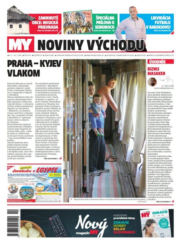 Nové číslo týždenníka MY Noviny východu č.10. vychádza v utorok 12.marca.