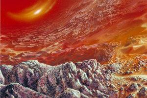 Umelecká predstava povrchu Venuše.