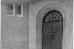 Portál  v čase vysvätenie kostola v r. 1927.