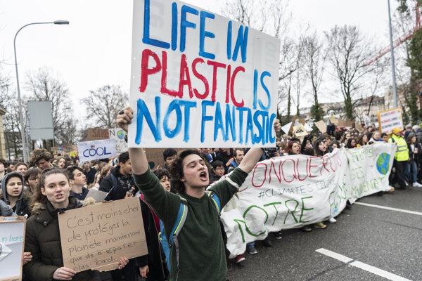 Protest študentov vo Švajčiarsku.