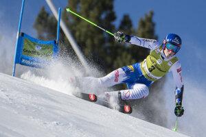 Na snímke slovenská lyžiarka Petra Vlhová počas 1. kola finálového obrovského slalomu Svetového pohára v zimnom stredisku Soldeu v Andorre v nedeľu 17. marca 2019.