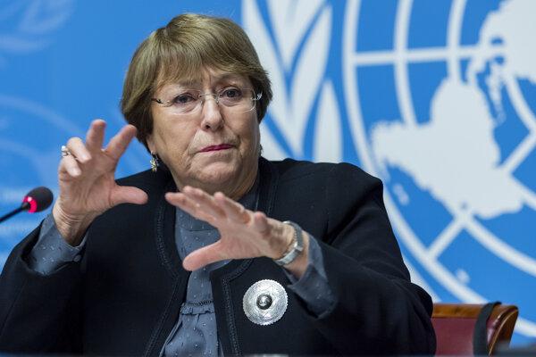 Vysoká komisárka OSN pre ľudské práva Michelle Bacheletová.