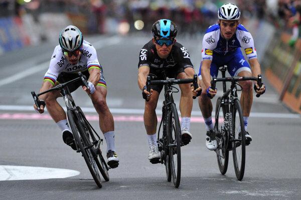 Pred dvomi rokmi Peter Sagan prehral súboj o víťazstvo na Miláno - San Remo veľmi tesne.