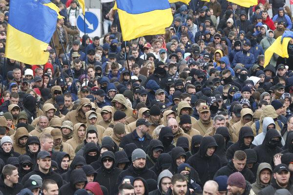 V Kyjeve protestovalo asi 5-tisíc nacionalistov.