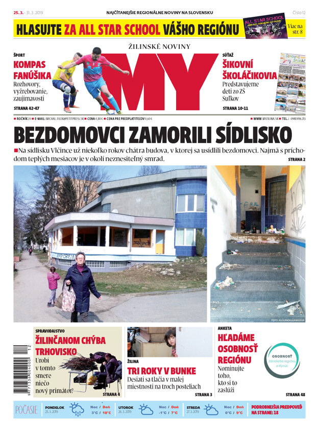 Najnovšie číslo MY Žilinské noviny.