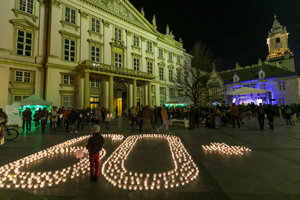 Celosvetová ekologická akcia s názvom Hodina Zeme 2017 v Bratislave v noci na 26. marca 2017.