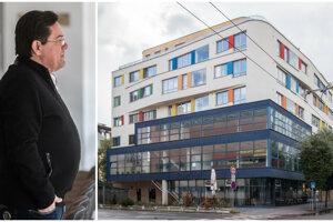 Marian Kočner a bytovka, v ktorej jeho firma predala tri byty. Vlastní tam ďalších päť.