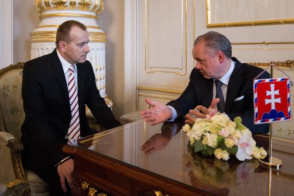 Boris Kollár počas stretnutia s prezidentom.