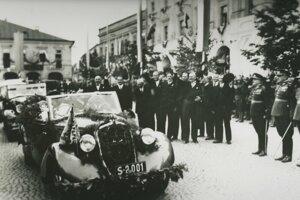 Návšteva Beneša v Žiline.