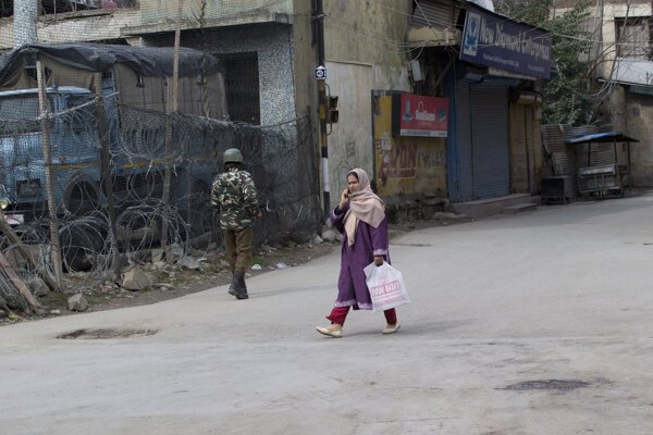 Obyvateľka Šrínagáru v Kašmíre