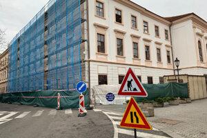 Obnova fasády Župného domu.