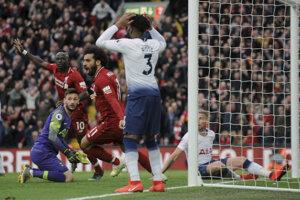 Momentka zo zápasu FC Liverpool - Tottenham.