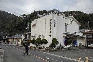 Múzeum veľrýb v Nagato vystavuje tradičné nástroje používané na lov veľrýb ako ručné harpúny, nože a píly.