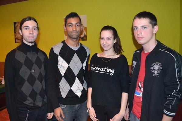 Ghost Evidence v zložení (zľava) Adam, Ronnie, Stea a Peťo.
