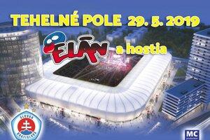 Elán vystúpi 29. mája na Tehelnom poli.