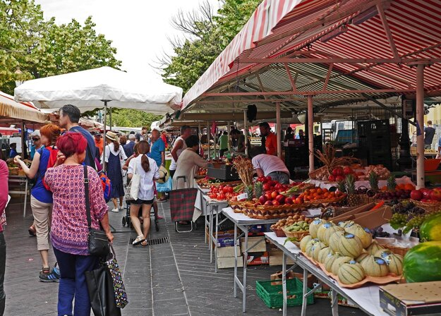 Trhovisko v Nice