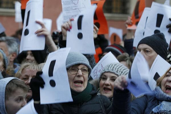 Obyvatelia Varšavy podporili štrajk učiteľov