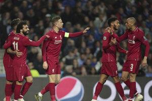 Futbalisti Liverpoolu sa radujú z postupu do semifinále Ligy majstrov.