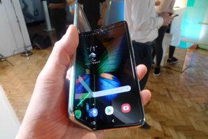 Samsung Galaxy Fold pri predstavení médiám 16. apríla 2019.