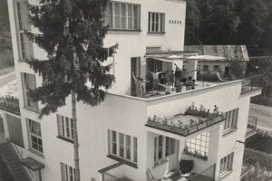 Bohuslav Fuchs. Penzióny Viola, Avion, Radun. 1927–1928, Luhačovice. Muzeum města Brna