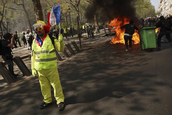 Ilustračné foto - protest v Paríži.
