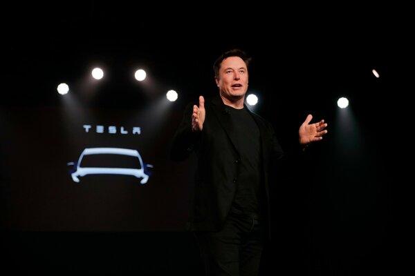 Šéf Tesly Elon Musk.