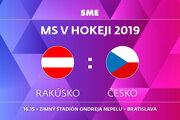 Rakúsko - Česko, zápas MS v hokeji 2019, skupina B. Sledujte online prenos na SME.sk.