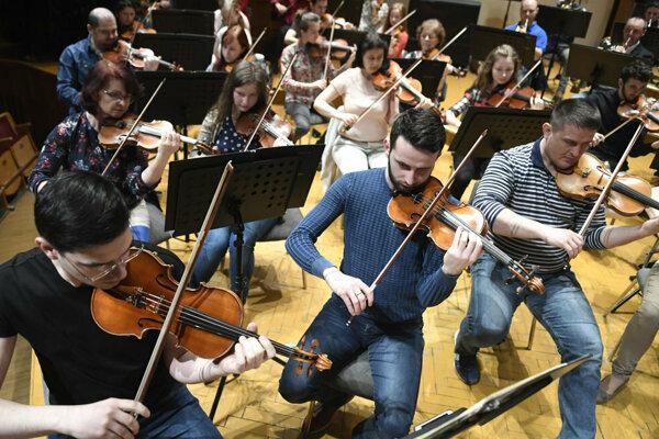 Nácvik Štátnej filharmónie na Košickú hudobnú jar.