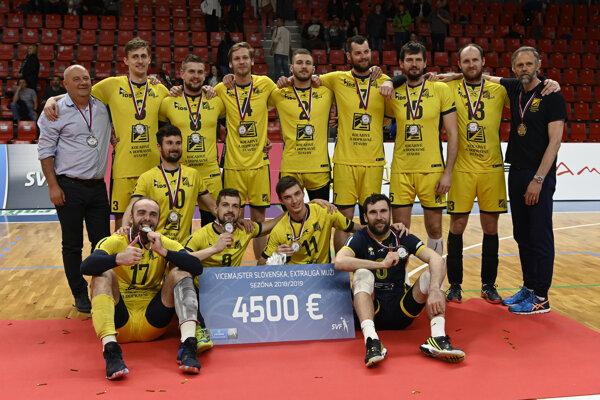 Košickí volejbalisti vybojovali v sezóne 2018/19 historické strieborné medaily.