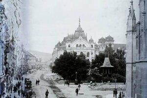 Košice mali celé stáročia výnimočné európske postavenie. Na snímke je centrum v roku 1906.