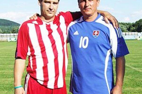 Nový viceprezident LAFc Peter Koreň (vľavo) s Ľubom Faktorom.