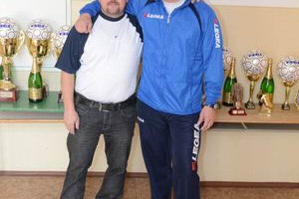 Spoluorganizátori Balex Trade Futsal ligy Attila Visnyai (vľavo) a Stano Villányi.