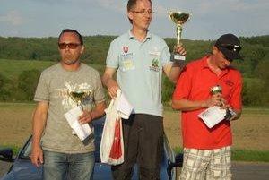 Najrýchlejší strojlístok v celkovom poradí - 1. Ivan Strmý, 2. Peter Weis, 3. Ján Bendiak.